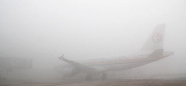 新年首场雾霾致青岛机场航班全部暂停起降