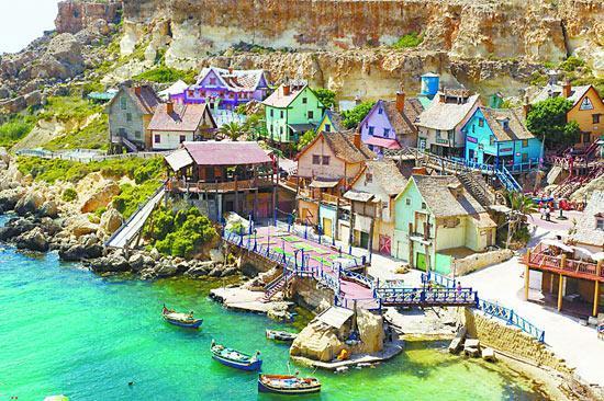 马耳他大力水手村 遍地彩色房子好似童话世界
