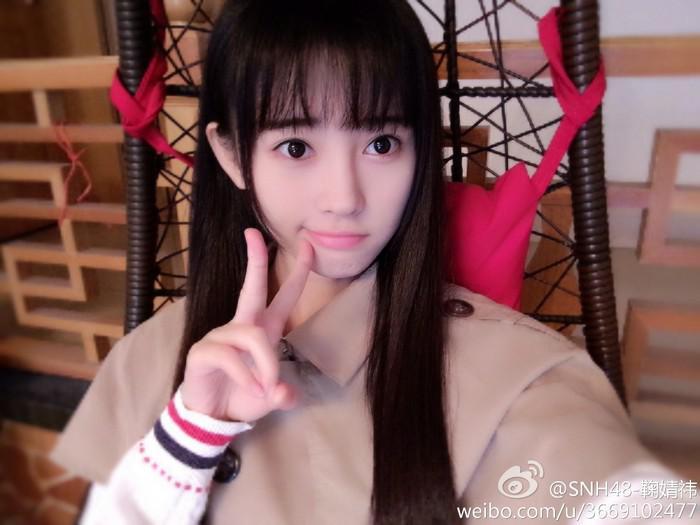 日本网友选 中国第一美女 SNH48成员鞠婧祎夺
