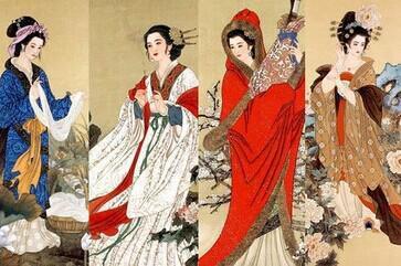 古代四大美女(左起:西施 貂蝉 昭君 玉环)-甘肃临洮 成功抢注 貂蝉