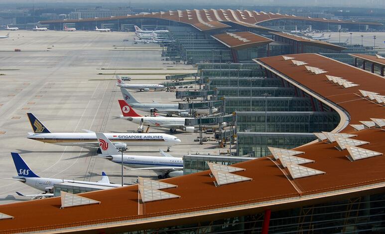 首都机场15日起将实施24小时过境免办边检手续(图)