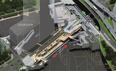 12号地铁线苏州桥站换乘设计图.