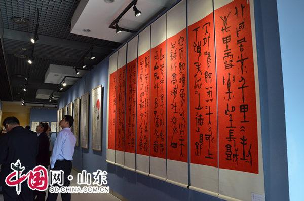 """刘乐一教授暨研究生书画展""""松涛烹雪""""10月10日在潍坊开幕"""