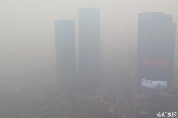 沈阳重度雾霾PM2.5浓度爆表 网友:出门辣眼睛!(图)