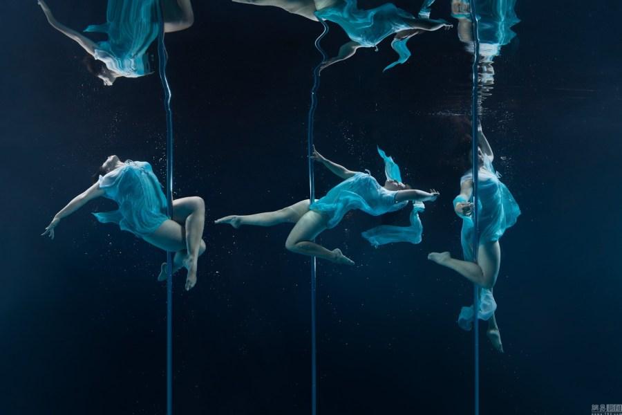 摄影师v雄兵唯美水下雄兵舞高难度水下呼吸性钢管性感连图片