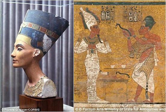 疑埃及法老王墓中藏密室 或揭开最美艳王后神秘面纱 组图图片
