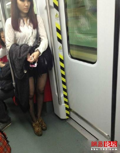 地铁猥琐美女