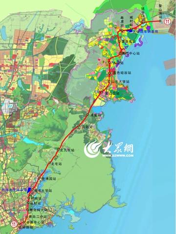 青岛地铁11号线线路图.