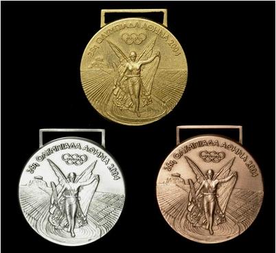 里约金牌含金6克 揭历届奥运会奖牌设计(组图)