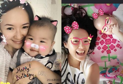 章子怡2015年和歌手汪峰结婚后,同年12月生下女儿醒醒,产后休养直到