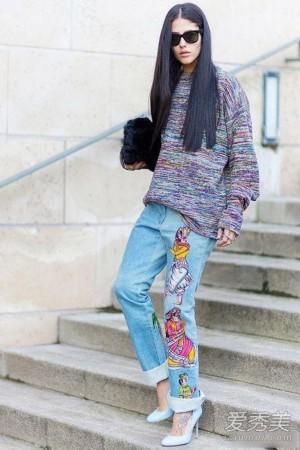 牛仔裤怎么穿好看 学学欧美街拍