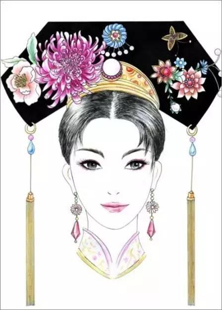 古代女子发饰多种多样,有笄,簪,簪花,钗,梳钗,环, 步摇 ,凤冠,华