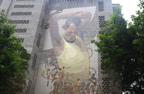 世界涂鸦大师Aryz作品惊现重庆街头