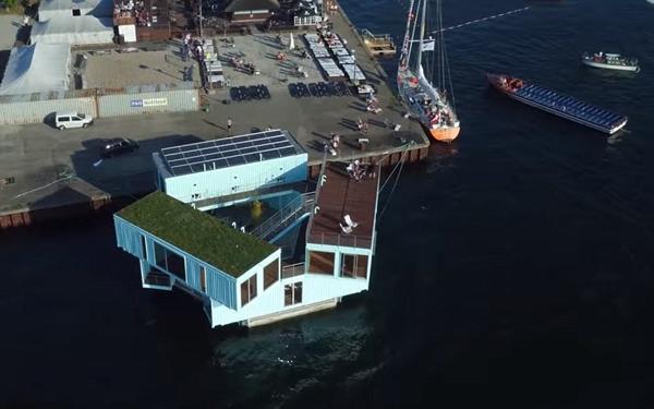 创意!丹麦房产商将集装箱改造成海上学生宿舍