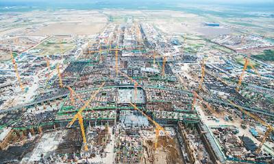 """北京新机场航站楼主体结构""""冲""""出地面(图)"""