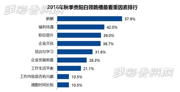 贵阳超4成白领选择金秋跳槽 薪酬和职业发展是首要原因