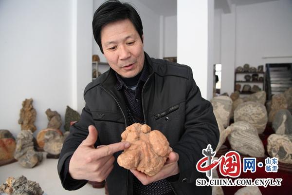 """山东平邑一农民酷爱奇石 20年凑出""""满汉全席"""""""