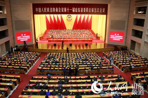 山东省政协十一届五次会议闭幕 刘伟主持图片 50067 500x333