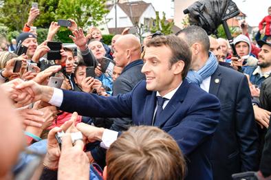 """马克龙当选法国总统 """"国民阵线""""候选人玛丽娜·勒庞祝贺?(图)"""