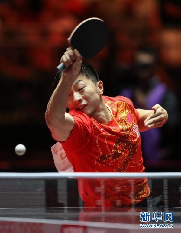 马龙世乒赛夺男单冠军 4比3险胜小胖樊振东(组图)