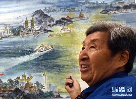 """海上新丝绸之路·共同富裕图""""长卷画作新闻发布会在京举行"""