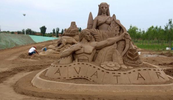 滨州:打造100亩黄河沙雕主题公园(组图)