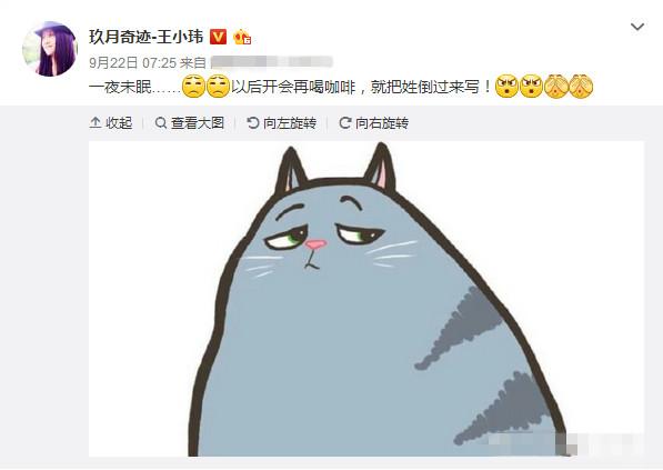 王小玮称开会喝咖啡姓倒着写 网友:可以和老公