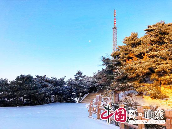临沂蒙山迎2018年第一场雪 银装素裹宛如童话世界(组图)