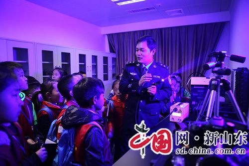"""淄博市高青县公安局举办""""小记者进警营""""活动"""