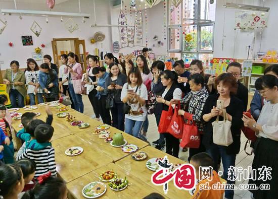 """济南市槐荫区实验幼儿园举行""""水果之恋 爱意无限""""母亲节活动"""