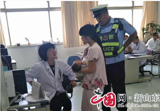 急群众所急帮群众所需 滨州高速交警支队民警急速救助患儿