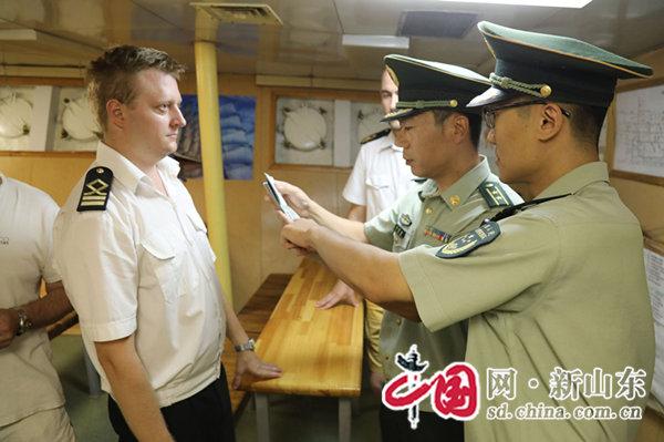 """山东青岛:""""帕拉达""""来访、边检服务忙"""