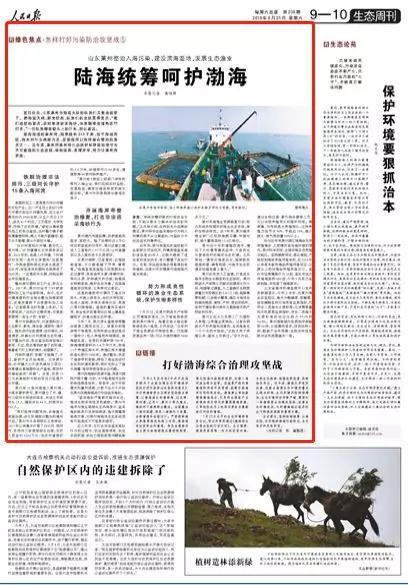 人民日报点赞山东莱州:陆海统筹呵护渤海