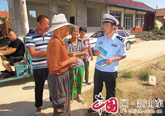 滨州市阳信县:交通宣传进农村屈膝畅谈话安全